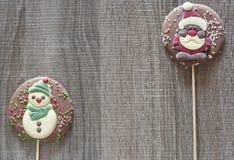 Рамка рождества с диаграммами шоколада Стоковые Изображения