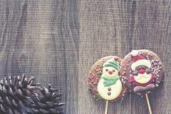 Рамка рождества с диаграммами шоколада Стоковые Фото
