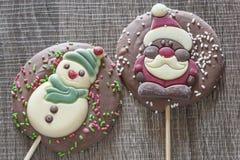Рамка рождества с диаграммами шоколада Стоковое фото RF