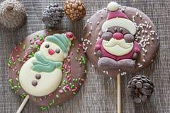Рамка рождества с диаграммами шоколада Стоковые Изображения RF