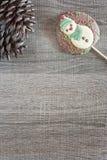 Рамка рождества с диаграммой шоколада Стоковые Фото