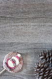 Рамка рождества с диаграммой шоколада Стоковое Фото