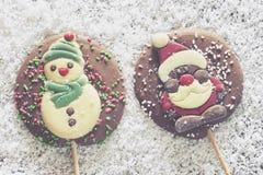 Рамка рождества с диаграммой шоколада Стоковые Изображения