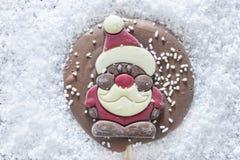 Рамка рождества с диаграммой шоколада Стоковая Фотография RF
