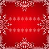 Рамка рождества с снежинками на крае Стоковые Фотографии RF