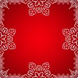 Рамка рождества с снежинками на крае Стоковая Фотография
