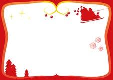 Рамка рождества для поздравительных открыток Стоковые Изображения