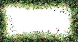 Рамка рождественской елки Стоковые Фото
