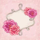 Рамка роз Стоковые Фотографии RF