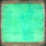 Рамка рококо Grunge голубая Стоковая Фотография