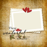 рамка романтичная Стоковое Фото