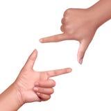 Рамка руки Стоковое Фото