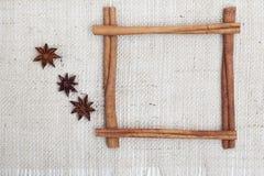 Рамка ручек циннамона Стоковое Изображение RF