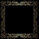 Рамка сбора винограда золота Стоковая Фотография
