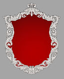 Рамка сбора винограда королевская декоративная флористическая Стоковые Изображения