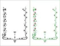 Рамка сбора винограда флористическая Стоковое фото RF