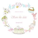 Рамка свадьбы бесплатная иллюстрация