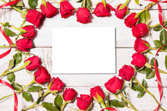 Рамка свежих роз Стоковые Фото