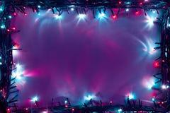 Рамка светов рождества Стоковое Фото