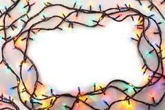 Рамка светов рождества стоковое изображение
