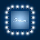 Рамка светящих электрических лампочек Стоковые Фотографии RF