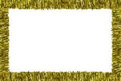 Рамка сделанная из сусали золота, изолированный на белой предпосылке с путем клиппирования и космосе экземпляра в середине Украше стоковое фото