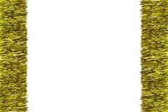 Рамка сделанная из сусали золота, изолированный на белой предпосылке с путем клиппирования и космосе экземпляра в середине Украше стоковые изображения