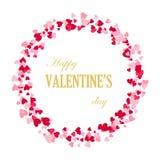 Рамка сердец, красивых поздравительных открыток, приглашений свадьбы, дня ` s валентинки стоковая фотография