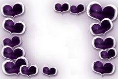 Рамка сердец Стоковые Изображения RF