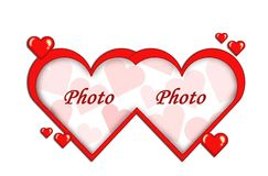 Рамка сердец Стоковое Фото
