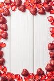 Рамка сердца на белизне Стоковые Фотографии RF