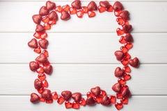 Рамка сердца на белизне Стоковые Изображения RF