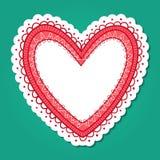 Рамка сердца шнурка Стоковая Фотография RF