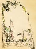рамка сказки коттеджа Стоковая Фотография