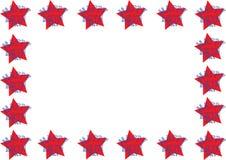Рамка содержа с днем рождения искусство Doodle с предпосылкой звезды иллюстрация штока