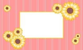 Рамка солнцецвета иллюстрации вектора Стоковые Фотографии RF