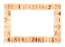Рамка старых деревянных номеров Стоковое фото RF