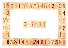 Рамка старых деревянных номеров Стоковое Фото
