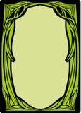 рамка стиля Арт Деко флористическая Стоковая Фотография RF