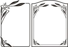 Рамка стиля Арт Деко - граница nouveau искусства Стоковое фото RF