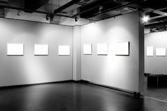 Пустая рамка в музее изобразительных искусств Стоковые Изображения RF