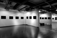 Пустая рамка в музее изобразительных искусств Стоковое Изображение