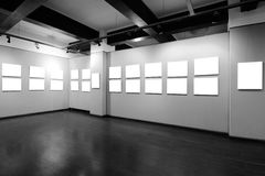 Пустая рамка в музее изобразительных искусств Стоковое Изображение RF