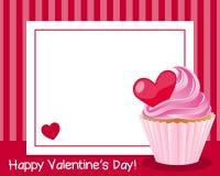 Рамка счастливого дня ` s валентинки горизонтальная Стоковые Фото