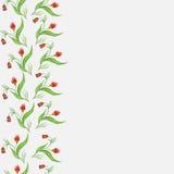 Рамка с абстрактными красными цветками Стоковые Фотографии RF