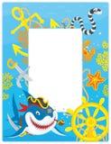 Рамка с акулой пирата Стоковое фото RF
