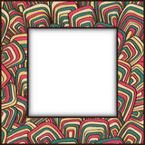 Рамка с винтажным орнаментом Стоковые Изображения RF