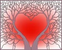 Рамка с деревьями Стоковое Изображение RF
