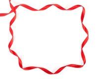 рамка сделала красную тесемку Стоковые Фотографии RF