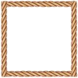 Рамка сделанная веревочки Стоковое Изображение